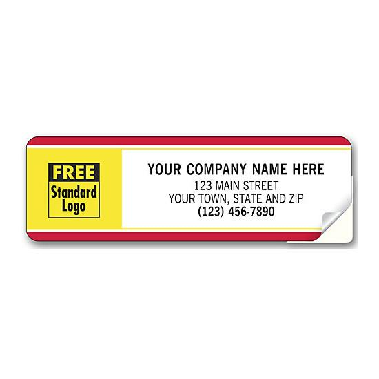 [Image: Labels With Business Design, Padded, Red-Yellow Border]