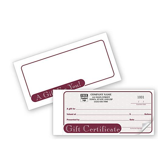 [Image: Custom Gift Certificate Snap sets]
