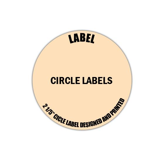 "[Image: 2.5"" Circle Label - Personalized & Custom Printed]"