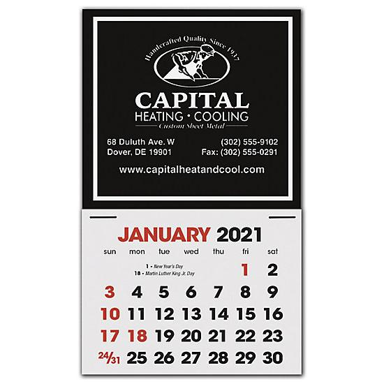 [Image: 2021 Stick Up Calendar Square, Custom Printed & Personalized]