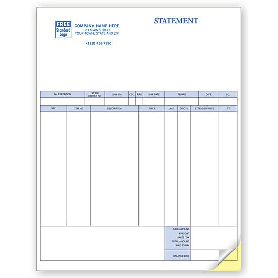 [Image: Multi-purpose Statement Form, Laser and Inkjet Compatible, Personalized]