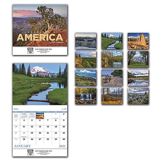 [Image: 2021 Landscapes Of America Wall Calendar, Custom Printed & Personalized]