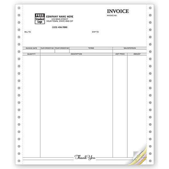 [Image: Classic Continuous Invoice Forms]