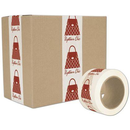 [Image: Custom-Printed Tape, White, 1 Color, Large]