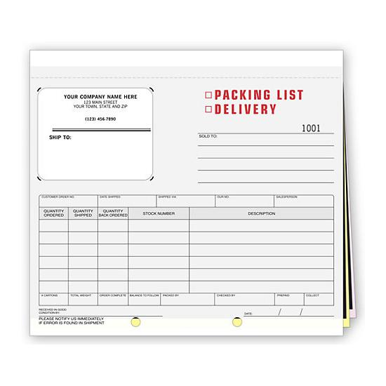 [Image: Packing List, Delivery Receipt & Shipping Label - all in one]