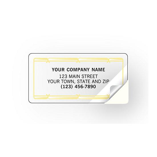 [Image: Gold Foil Return Address Labels]