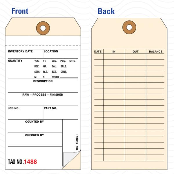 [Image: 2-Part Inventory Tags - Carbonless]