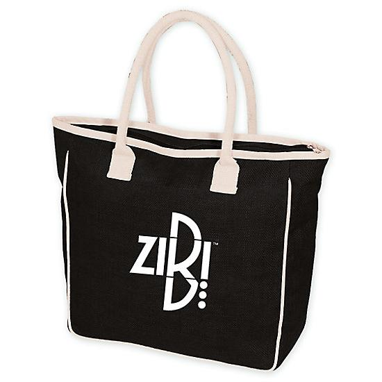 [Image: Seville Jute/canvas Tote - Personalized]