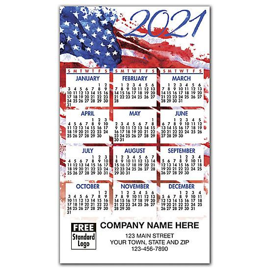 [Image: 2021 US Patriotic Magnet Calendar, Personalized & Custom Printed]