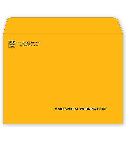 [Image: 9 x 12 Brown Kraft Mailing Envelope - Printed Return Address]