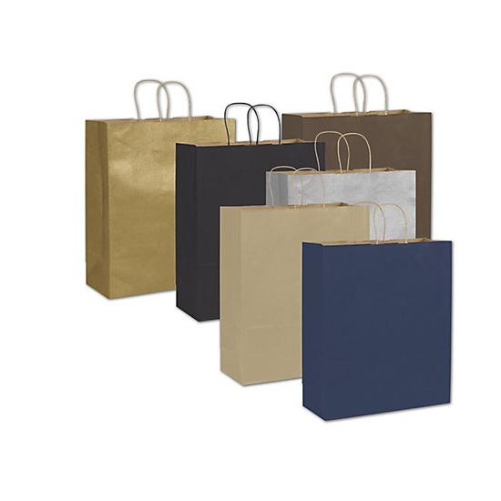 "[Image: Color-On-Kraft Paper Shopping Bag, 16 X 6 X 19"", Large Retail Bags]"