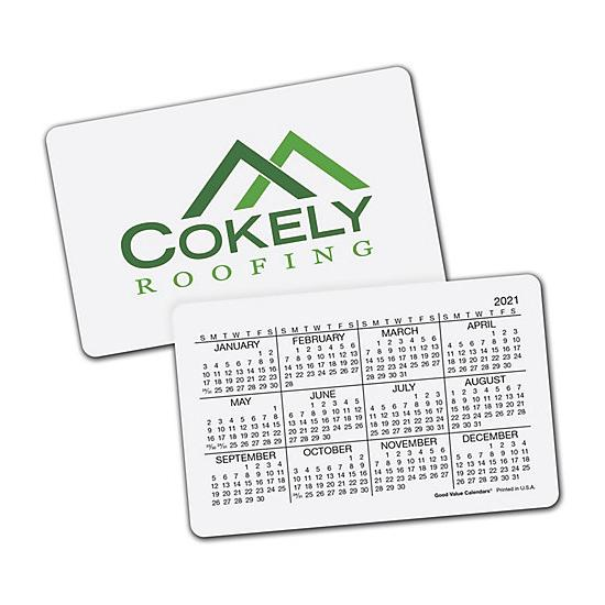 [Image: 2021 Wallet Calendar Horizontal, Personalized & Custom Printed]