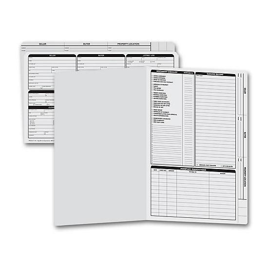 [Image: Real Estate Folder, Right Panel List, Legal Size, Gray]