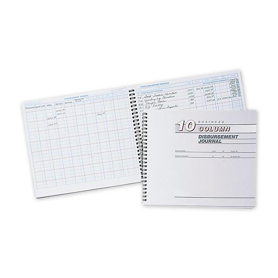[Image: Cash Receipts Journal - 10 Column Disbursement Journal]