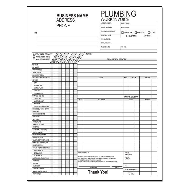 Product Details – Plumbing Invoice