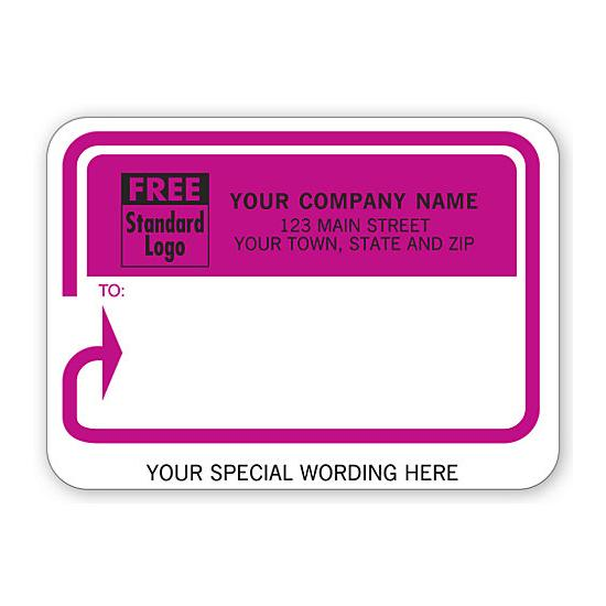 [Image: Shipping Label - Return Address Label With Pink Background]