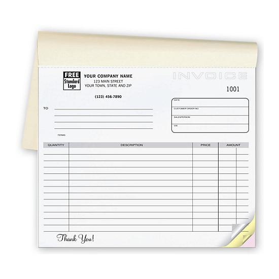"[Image: Invoice Book - Carbonless, Custom printed, 8 1/2 x 7""]"