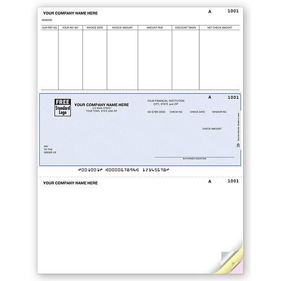 [Image: Sage 50 Laser Middle Accounts Payable Check DLM273]