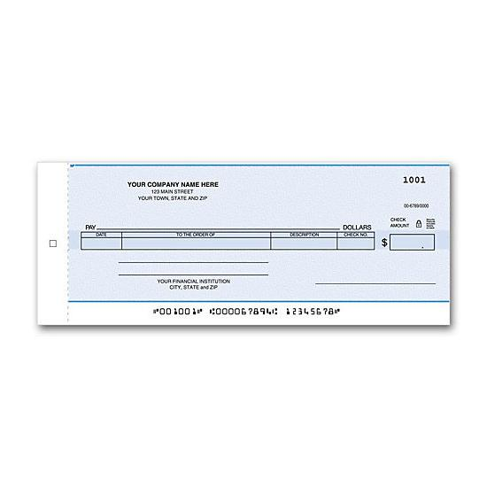 [Image: Compact General Disbursement Center Check, Personalized]