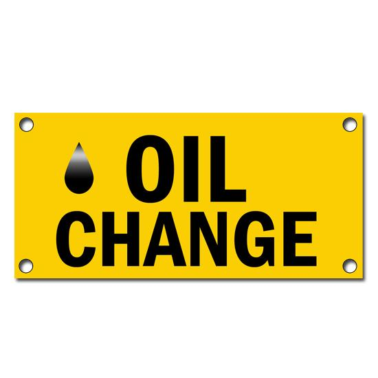 [Image: Oil Change Vinyl Banners]