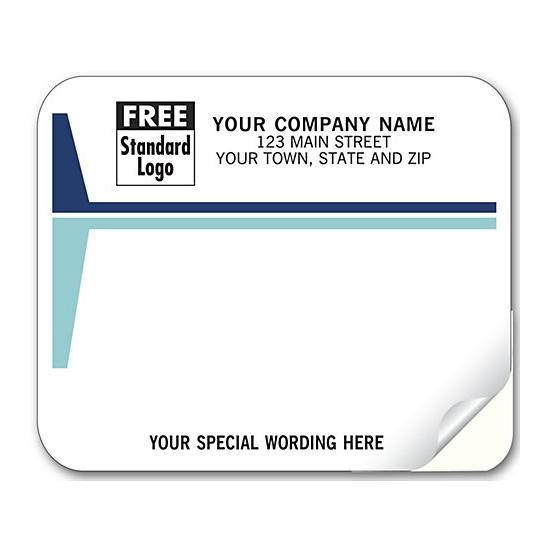 [Image: Shipping Label - Return Address Label with Blue Stripes]