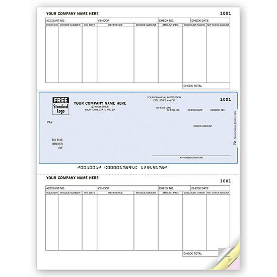 [Image: Business Check - Pre Printed, Personalized Logo, Laser & Inkjet, Accounts Payable, Compatible Computer Software]