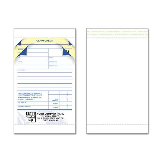 [Image: Jewelry Repair Order Invoice With Envelope, Custom Printed]