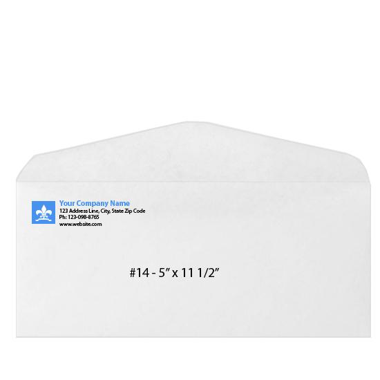 [Image: Custom Printed Business Envelope - #14 - 5 x 11 1/2]