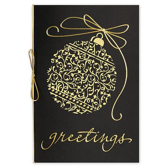 [Image: Etched In Gold Laser-Cut Holiday Cards]