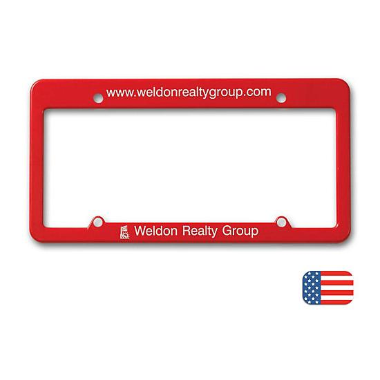 [Image: License Plate Frame - Straight Top]
