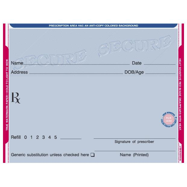 [Image: Secure Prescription Pad, 1 part]