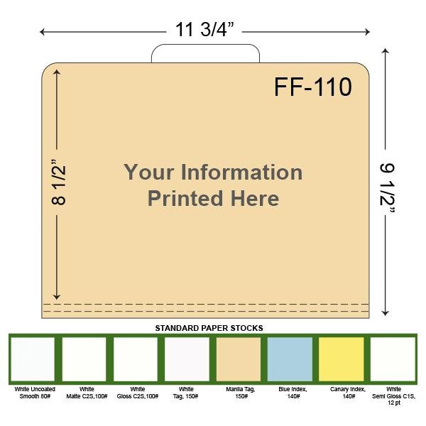 [Image: Custom Printed File Folders with a Center tab]