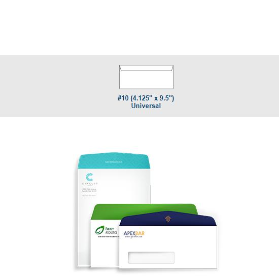 [Image: Full Color #10 Universal Envelope - Custom Printed with Return Address]