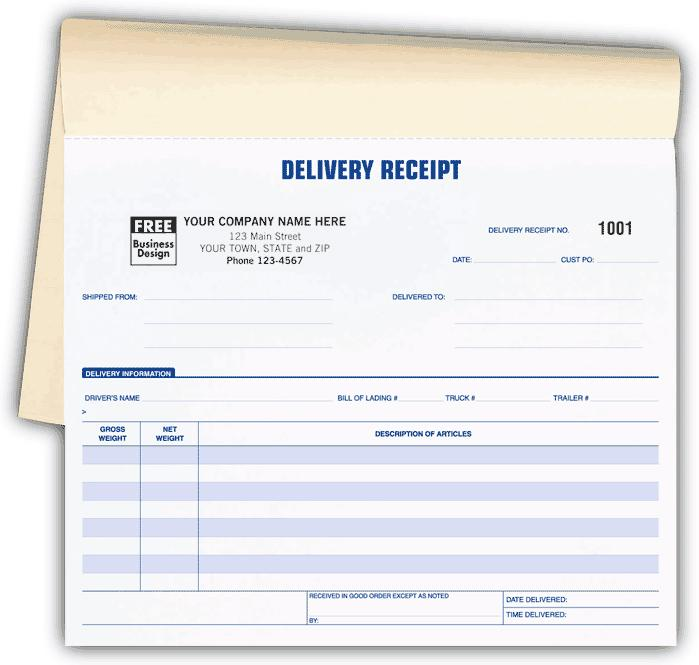 [Image: Delivery Receipts Book]