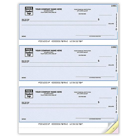 [Image: Quick Pay Laser 3-To-A-Page Checks, Lined DLA104]