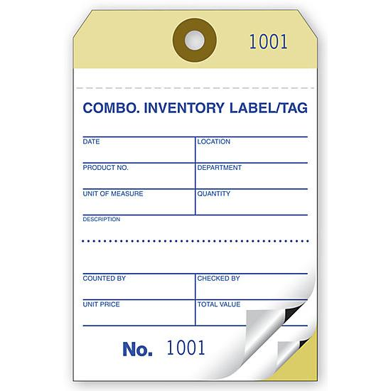 "[Image: Inventory Tag & Label - 2 or 3-Parts, Carbonized Paper, 3 1/8 x 4 3/4"", Preprinted, Prenumbered, Adhesive Back]"