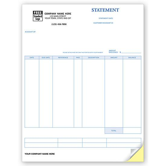 [Image: Account Statement Form, Laser and Inkjet Compatible, Custom Printed]