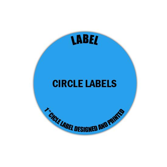"[Image: 1"" Circle Label - Personalized & Custom Printed]"