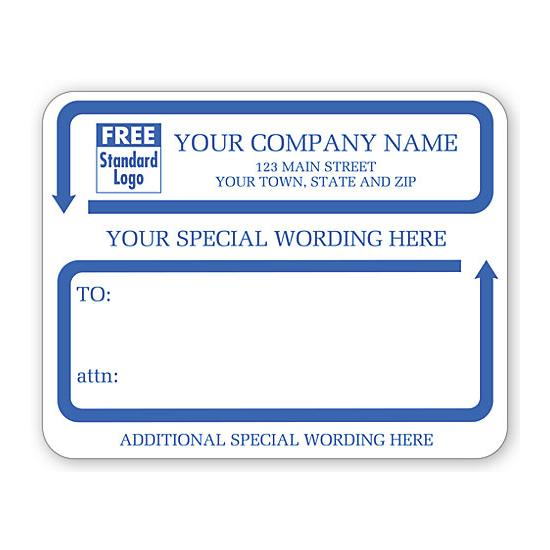 [Image: Jumbo Mailing Labels With Special Wording, Padded, White]
