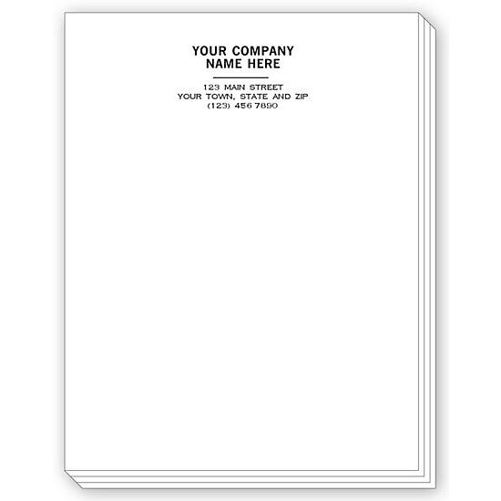 [Image: Personalized Notepad For Business, Letterhead Format]
