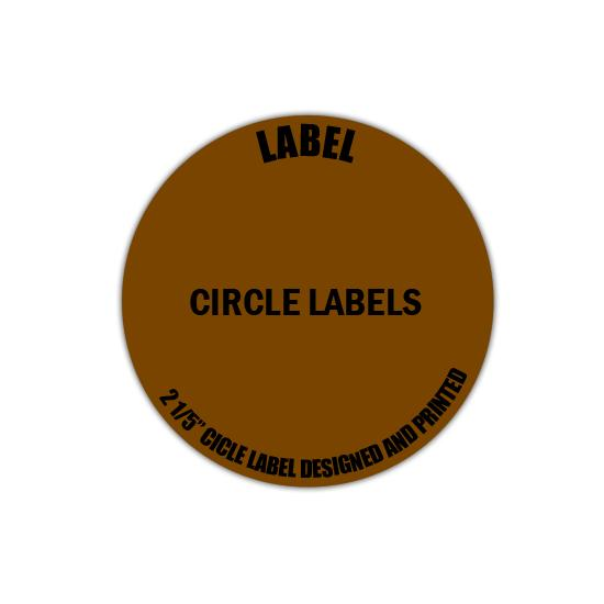 "[Image: 3"" Circle Label - Personalized & Custom Printed]"