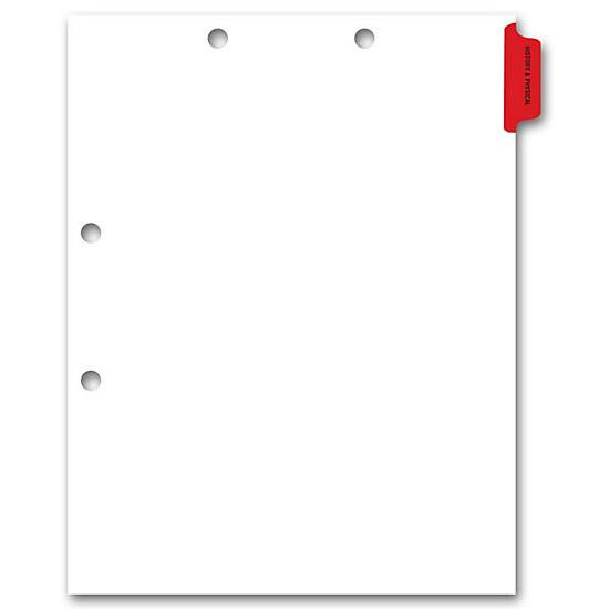 [Image: Side Tab Chart File Divider, History & Physical Tab]