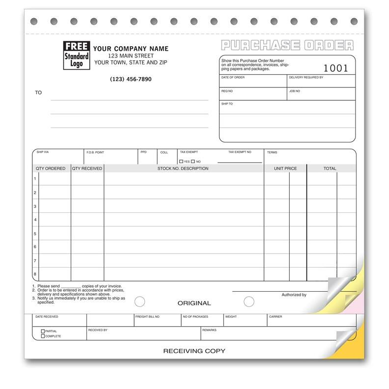 Carbonless Purchase Order Printing  Designsnprint