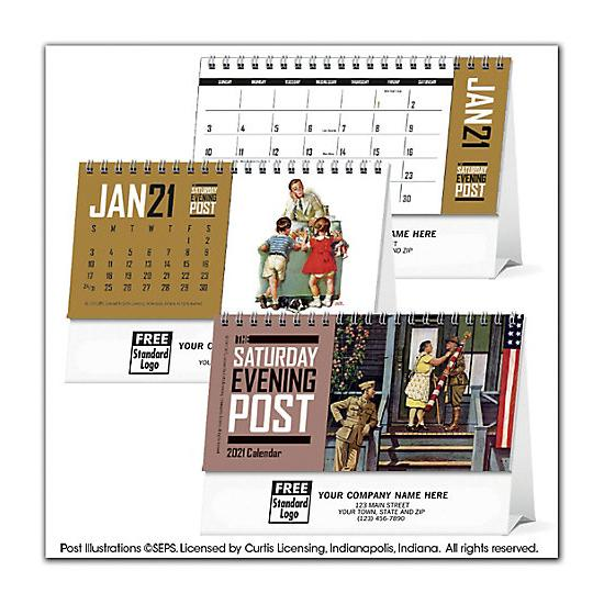 [Image: 2021 The Saturday Evening Post Desk Calendar, Personalized & Printed]