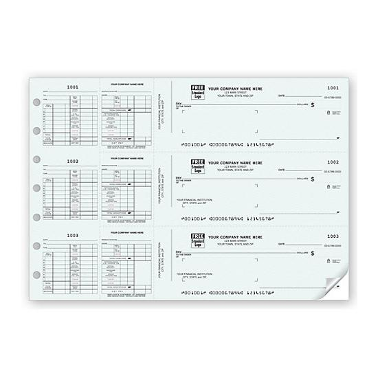 [Image: Manual Business Payroll Check, Works with Window Envelope]