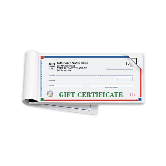 [Image: Personalized Gift Certificates - Booked, Carbon Copy]