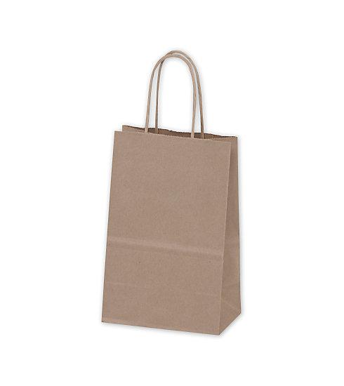 [Image: Recycled Kraft Paper Shoppers Mini Cub Bags]