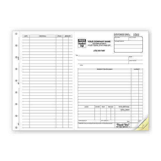 [Image: Construction Invoice Form]