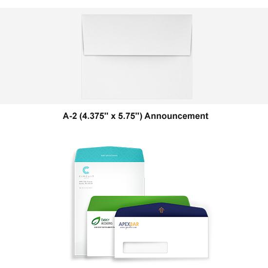 [Image: Full Color A2 Announcement Envelope - Custom Printed with Return Address]