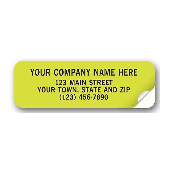 [Image: Fluorescent Green Address Labels]